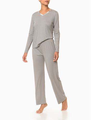 Pijama-Manga-Longa-E-Calca-Pima-Cotton---Light-Grey