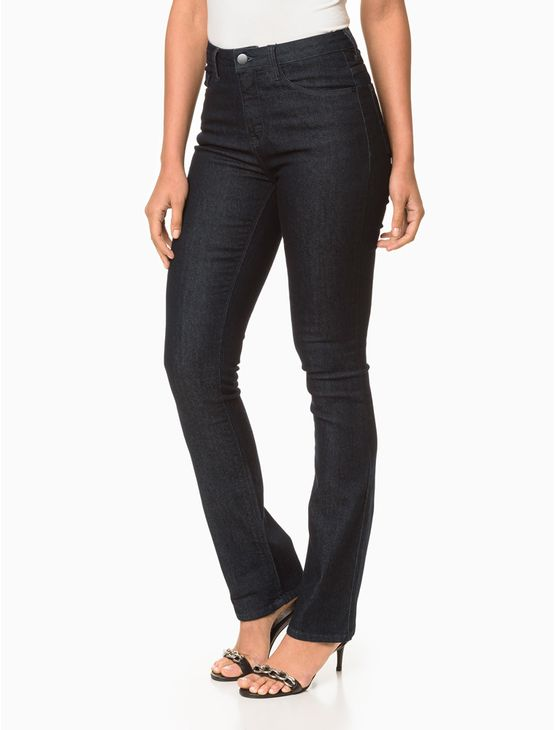 Calca-Jeans-Five-Pockets-Straight-High---Marinho