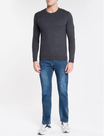 Sweater-Ckj-Masculino-Logo---Chumbo