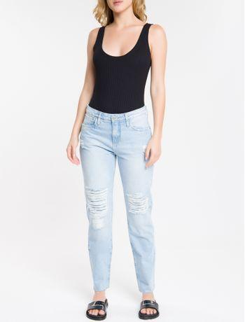 Calca-Jeans-Five-Pockets-Ckj-061-Mid-Rise-Boy---Azul-Claro