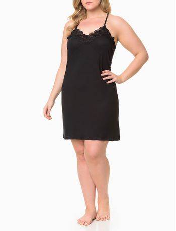 Camisola-Viscolight-E-Renda-Plus-Size---Preto-