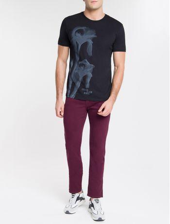 Camiseta-Ckj-Mc-Est-Flor-Glitch---Preto-