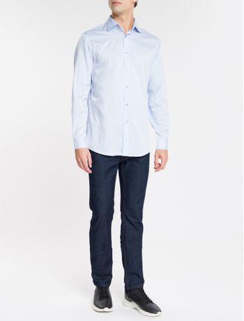 Camisa-Regular-Fit-Ml-Ck-Non-Iron---Azul-Medio-