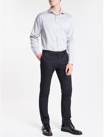 Camisa-Regular-Fit-Ml-Ck-Non-Iron---Cinza-Medio-
