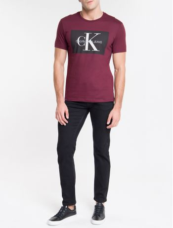 Camiseta-Ckj-Mc-Re-Issue-Retangulo---Bordo-