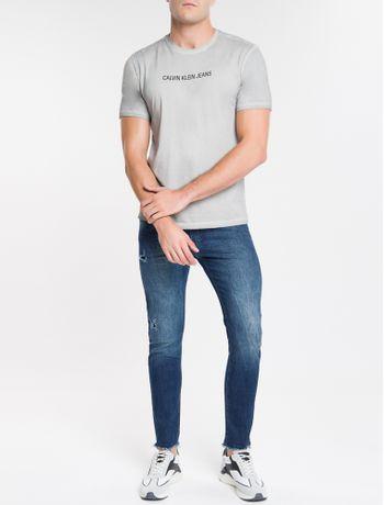Camiseta-Ckj-Est-Basico---Cinza-Claro-