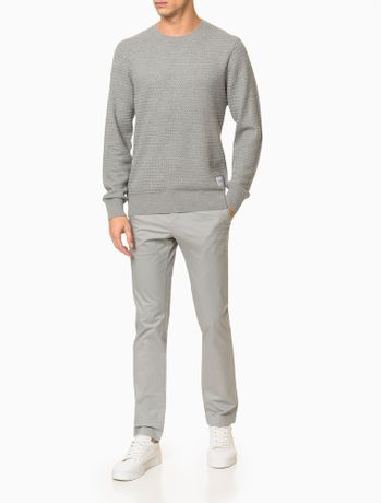 Sweater-Malha-Longa-Gola-Careca---Cinza-Medio-