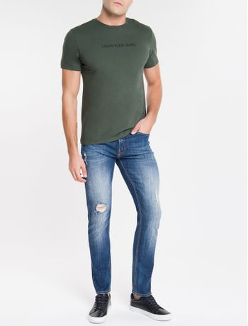 Calca-Jeans-Five-Pockets-Slim-Straight---Marinho-