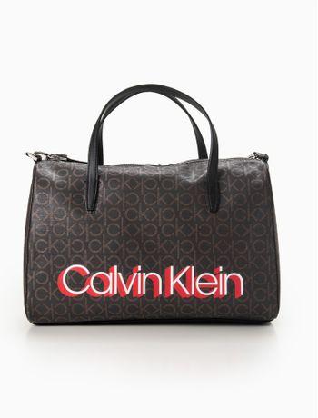 Bolsa-Calvin-Klein-Mono-Duffel---Marrom-