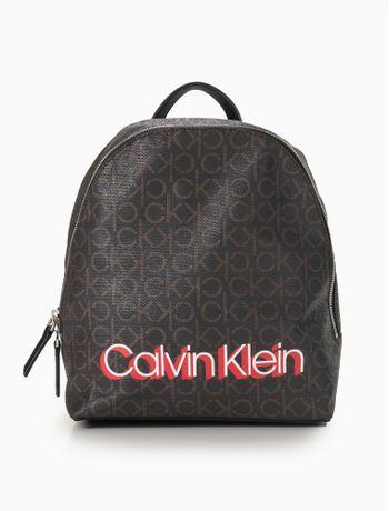Mochila-Calvin-Klein-Monogram-Backpack---Marrom-