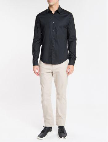 Camisa-Ml-Calvin-Klein-Extra-Slim-Fit---Preto-