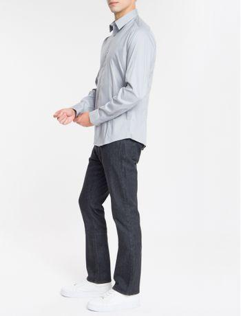 Camisa-Ml-Calvin-Klein-Extra-Slim-Fit---Cinza-Medio-