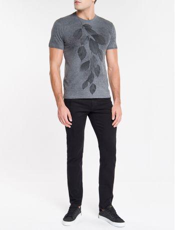 Camiseta-Ckj-Mc-Devore-Folhagem---Chumbo-