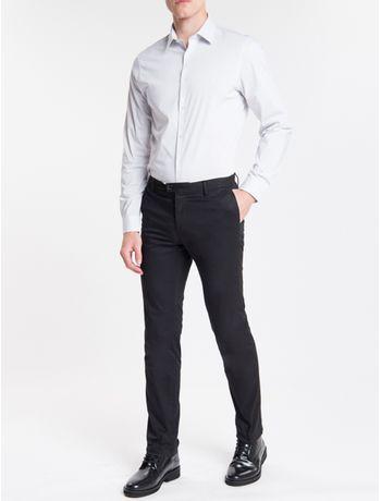 Camisa-Slim-Fit-Ml-Flex-Collar-M-Listra---Cinza-Claro-