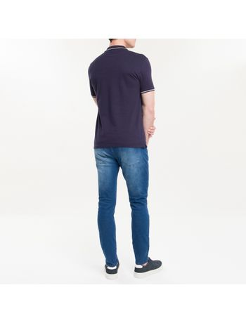 Polo-Slim-Basica-Calvin-Klein-Relevo---Azul-Marinho