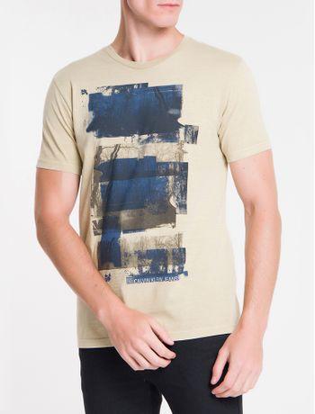 Camiseta-Ckj-Mc-Florest---Caqui-Claro