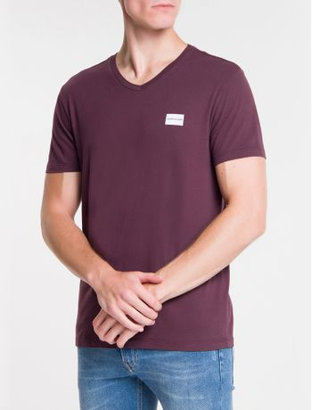 Camiseta-Ckj-Mc-Dec.V-Logo-Degrade---Bordo