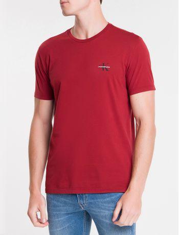 Camiseta-Ckj-Mc-Re-Issue-Peito---Vermelho-Escuro