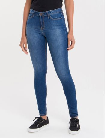 Calca-Jeans-Five-Pockets-Super-Skinny---Azul-Medio