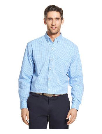 Camisa-Xadrez-Manga-Longa-Azul---Loja-Izod