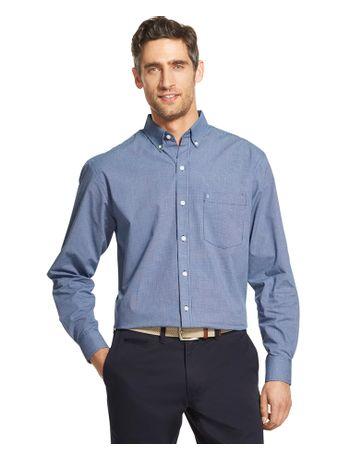 Camisa-Micro-Xadrez-Manga-Azul---Loja-Izod