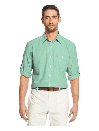 Camisa-Chambray-Manga-Longa-Verde---Loja-Izod