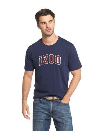 Camiseta-Estampada-College-Manga-Azul---Loja-Izod