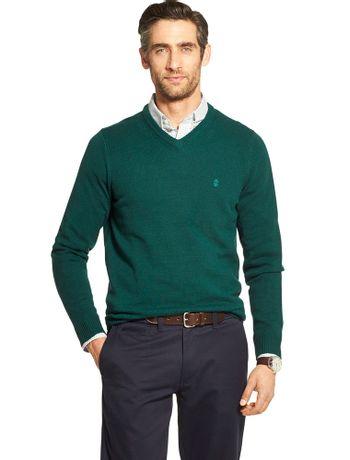 Sueter-Tricot-Basico-Masculino-Verde---Loja-Izod