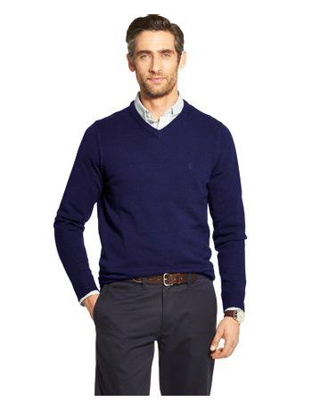 Sueter-Tricot-Basico-Masculino-Azul---Loja-Izod