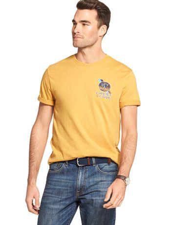 Camiseta-Estampada-Manga-Curta-Mostarda---Loja-Izod