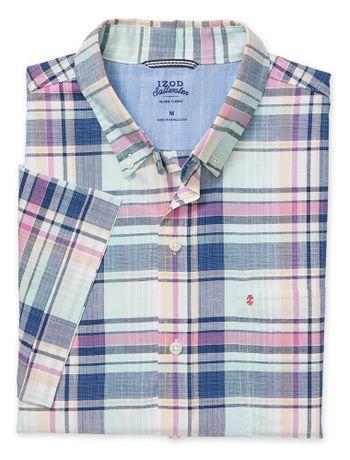 Camisa-Xadrez-Manga-Curta-Verde---Loja-Izod