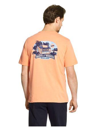 Camiseta-Manga-Curta-Estampada-Laranja---Loja-Izod