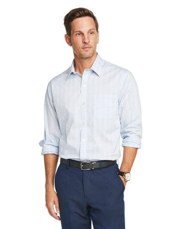 Camisa-Traveller-Xadrez--Manga-Longa-Slim-Masculina-Azul