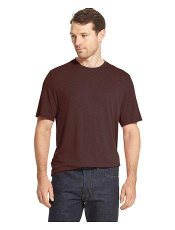 Camiseta-Manga-Curta-Constrastante-Masculina-Vermelho-Escuro