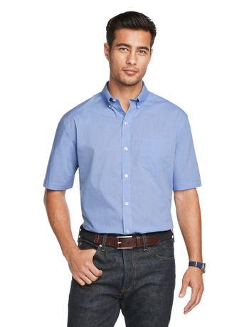 Camisa-Texturizada--Manga-Curta-Regular-Masculina-Azul