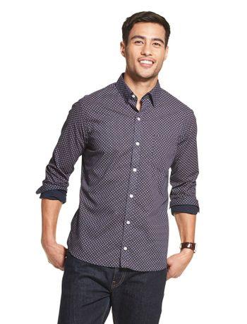 Camisa-Estampada-Manga-Longa-Regular-Masculina-Marinho