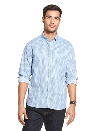 Camisa-Estampada-Manga-Longa-Regular-Masculina-Azul