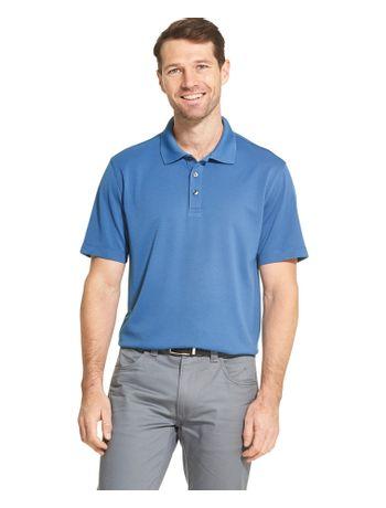 Polo-Manga-Curta-Masculina-Basica-Regular-Azul-Agua