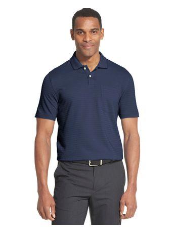 Polo-Manga-Curta-Masculina-Jacard-Bolso-Listras-Azul-Carbono