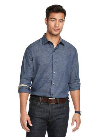Camisa-Flame-Manga-Longa-Regular-Masculina-Azul-Marinho-