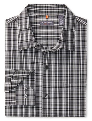 Camisa-Traveller-Xadrez--Manga-Longa-Regular-Masculina-Preta