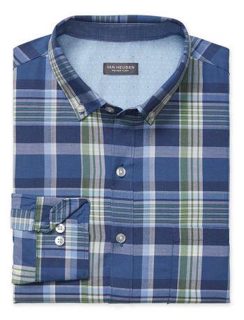 Camisa-Maxi-Xadrez--Manga-Longa-Regular-Masculina-Azul
