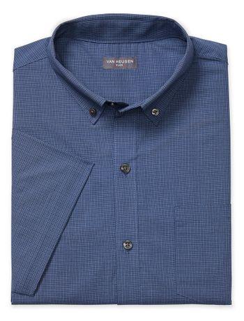 Camisa-Texturizada--Manga-Curta-Slim-Masculina-Azul-Marinho
