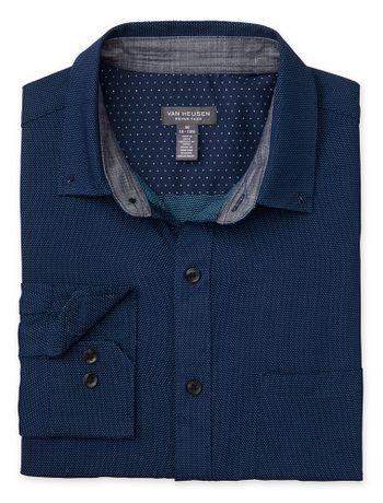 Camisa-Estampada-Manga-Longa-Regular-Masculina-Azul-Marinho-