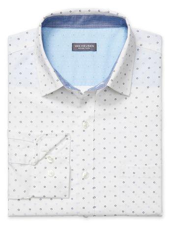 Camisa-Estampada--Manga-Longa-Slim-Masculina-Branca