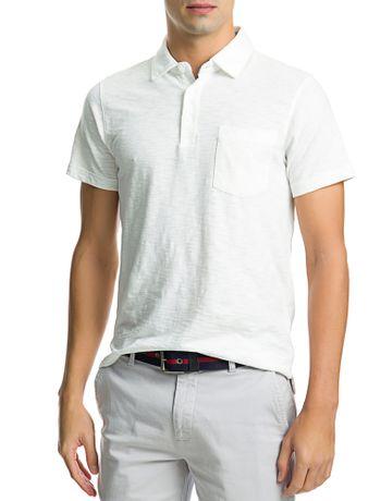 Polo-Manga-Curta-Masculina-Bolso-Branca