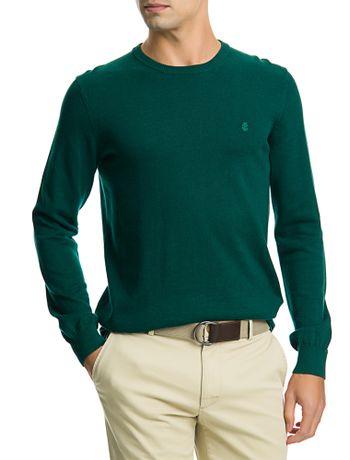Sueter-Tricot-Basico-Masculino-Verde-Escuro