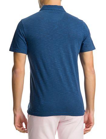 Polo-Manga-Curta-Masculina-Bolso-Azul-