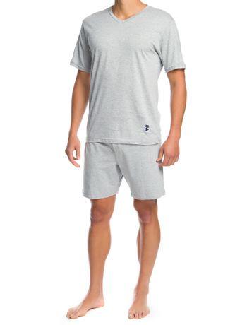 Pijama-Basico-Regular-Masculino-Cinza-Mescla---S