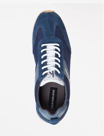 Tenis-Ckj-Masc-Cano-Baixo-Jogger-Logo---Azul-Escuro